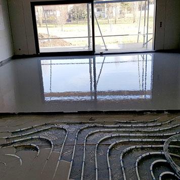 Fußbodenheizung im Fließestrich
