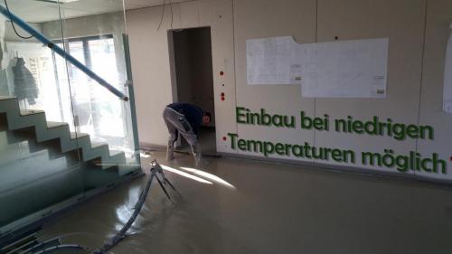 Estricharbeiten auch bei relativ niedrigen Temperaturen möglich