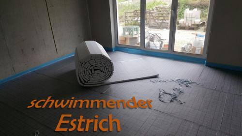 Schwimmender Estrichbelag
