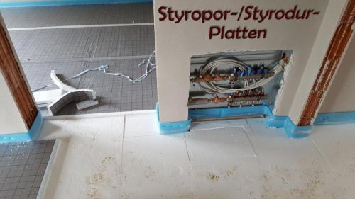 Verwendung von Styropor-/Styrodurplatten